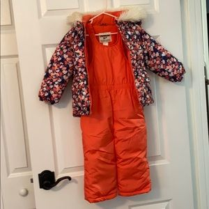 Carters snow suit set